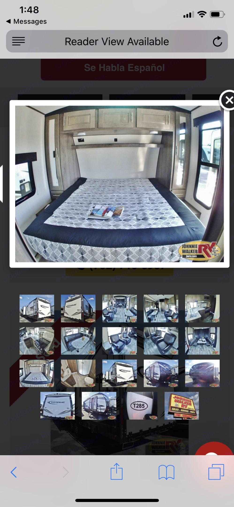 king size bed . Heartland Torque 2018