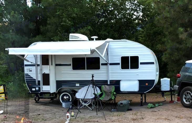 On the Campsite. Riverside Rv 189R Retro 2018