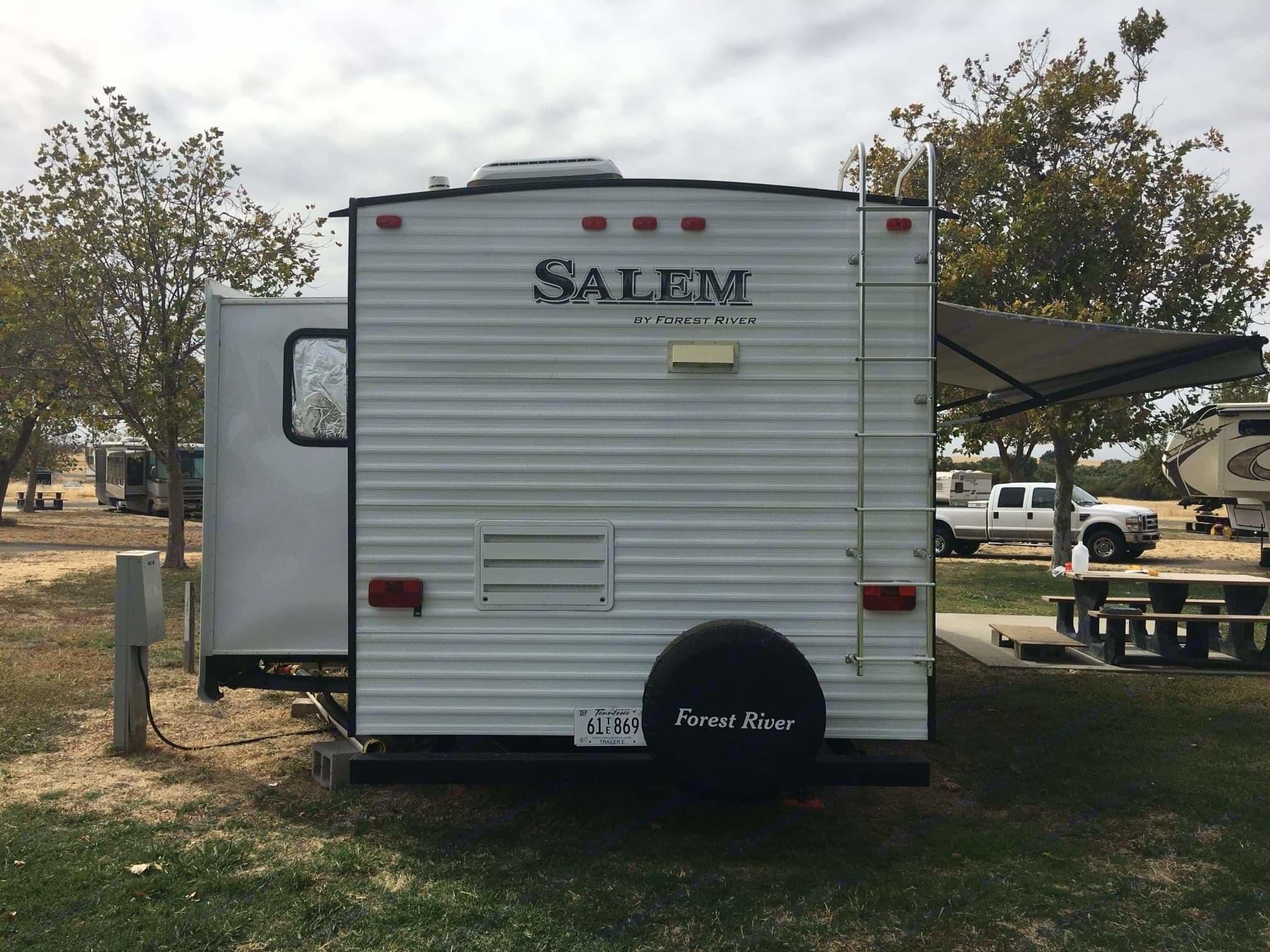 Back, with slideout. Forest River Salem 2017