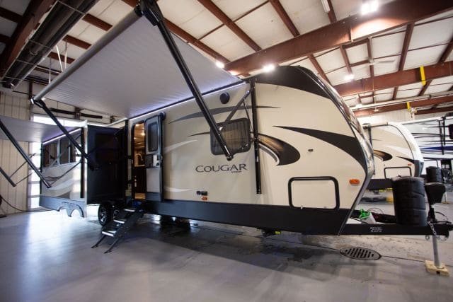 Two awnings for extra shade! . Keystone Cougar Half-Ton 2018