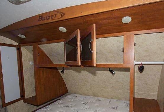Master Front Bed storage. Keystone Bullet Premier 2011