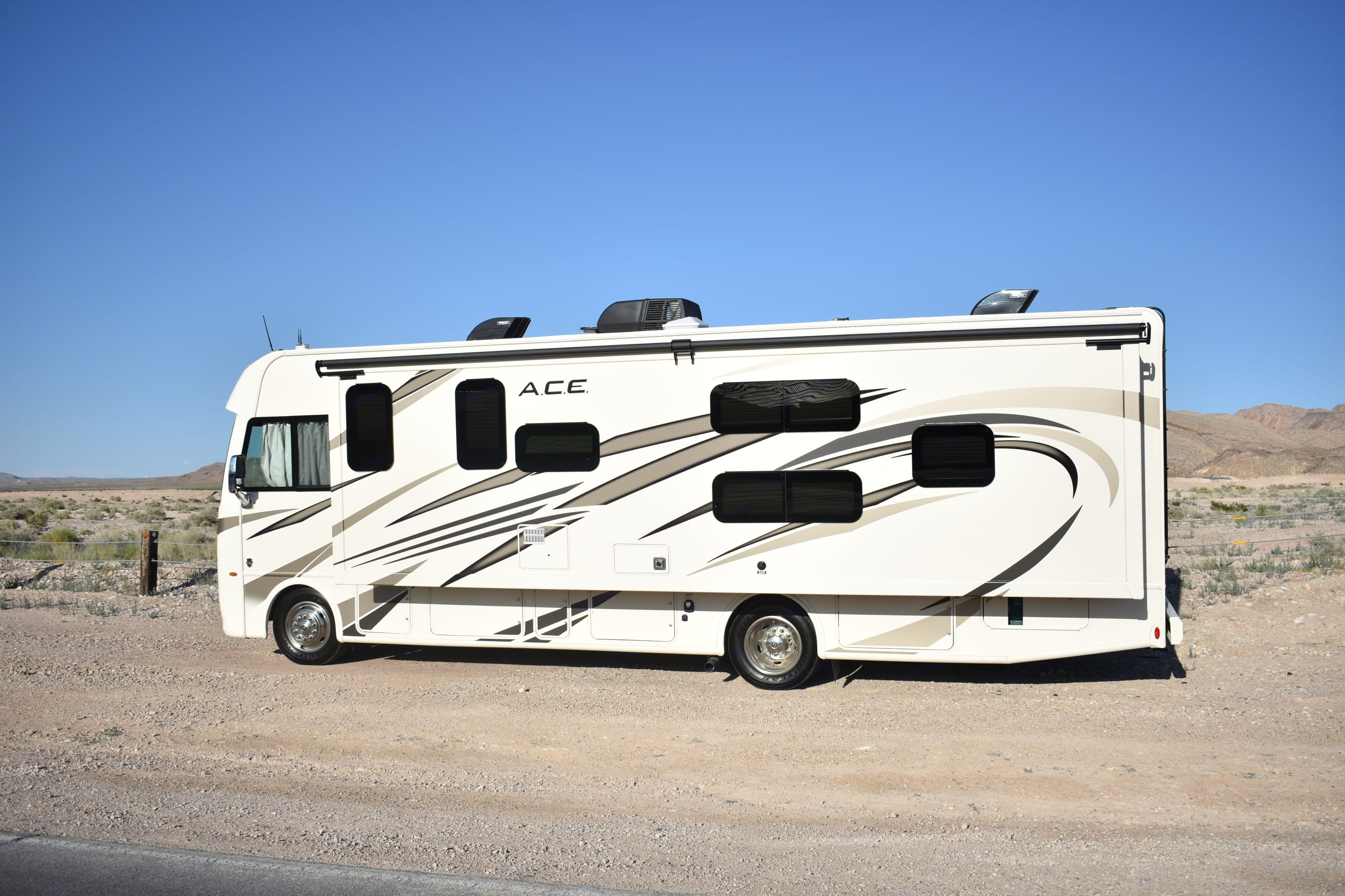 Lots of Storage with a 19 ft Awning. Thor Motor Coach A.C.E 2019