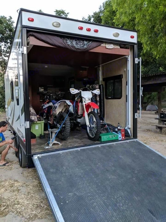 2 Dirtbikes in the Garage. Dune Sport Firestorm 2015