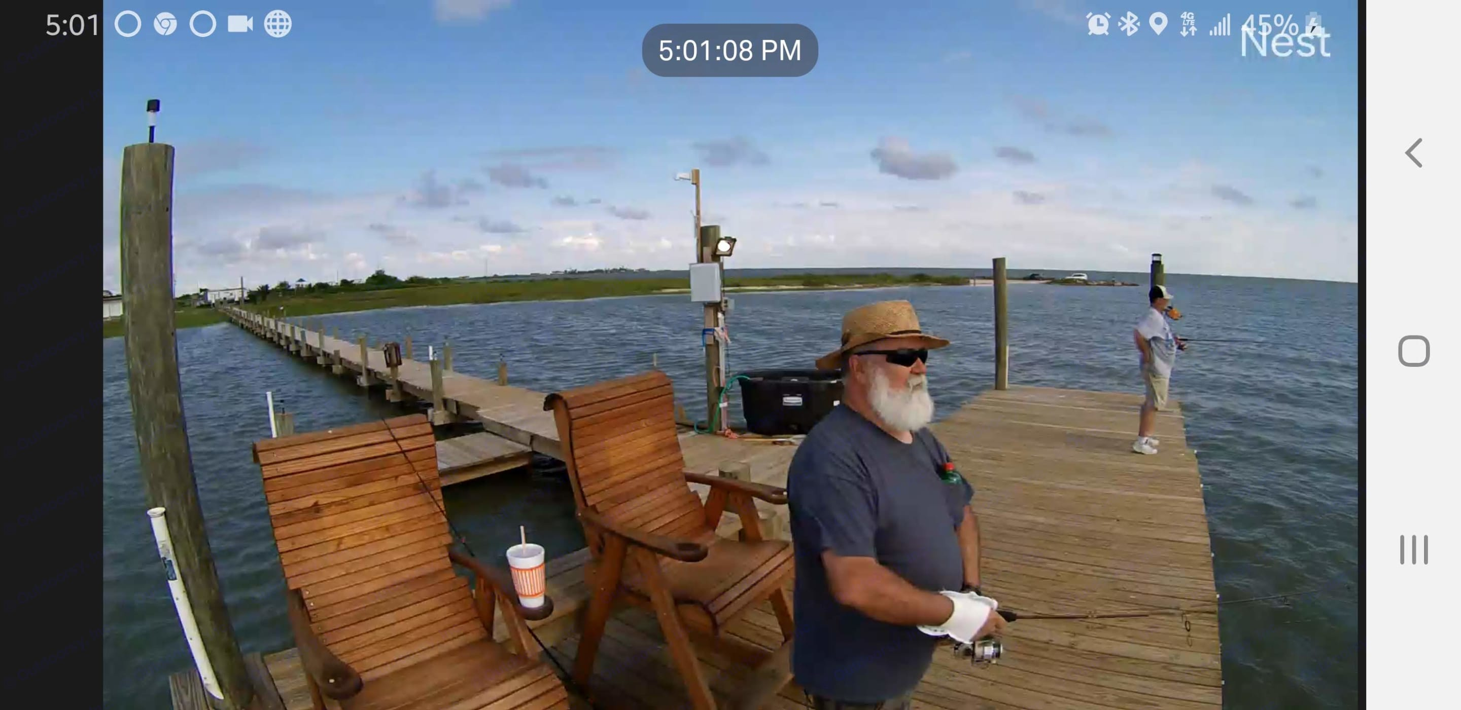 Lighted Fishing Pier. Forest River Cherokee Grey Wolf 2015