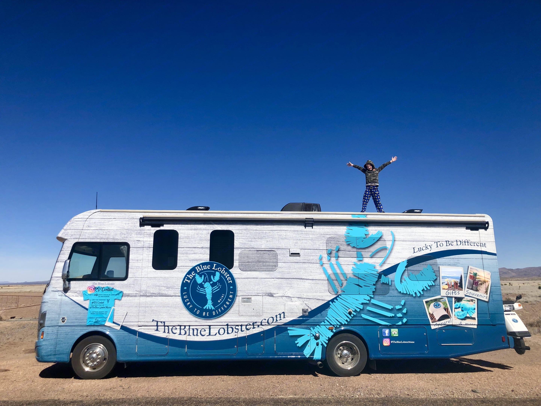 The Blue Lobster roaming through Texas. Thor Motor Coach A.C.E 2017