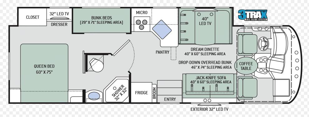 Floor plan. Thor Motor Coach A.C.E 2017