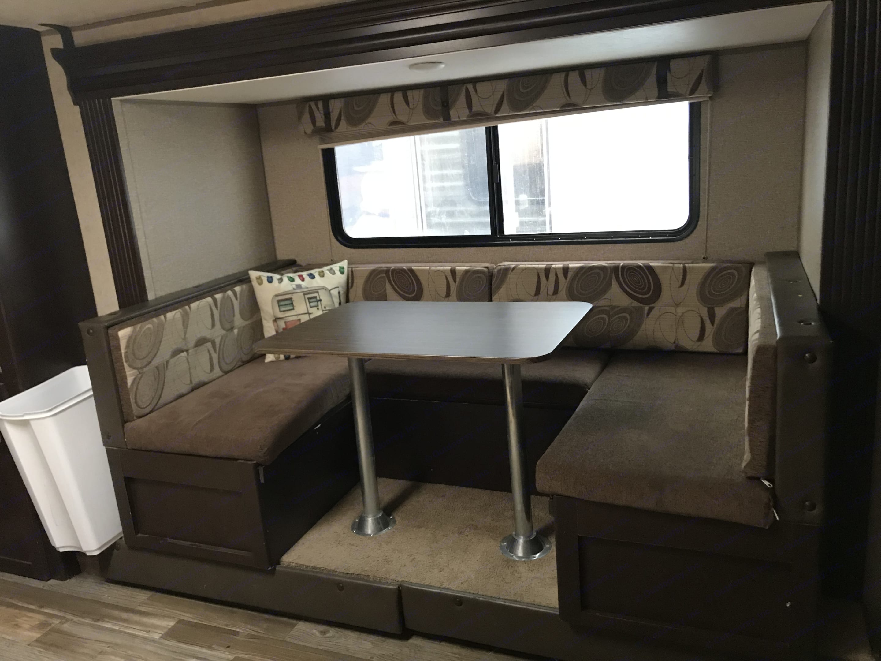 Kitchenette turns into bed. Forest River Cherokee Grey Wolf 2017