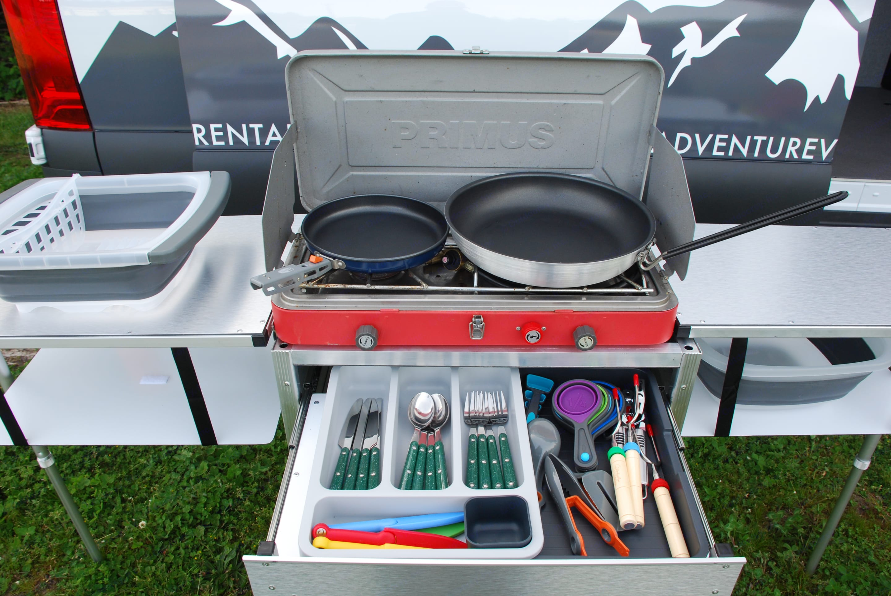 Included Camp kitchen and utensils. Mercedes-Benz Sprinter 2019