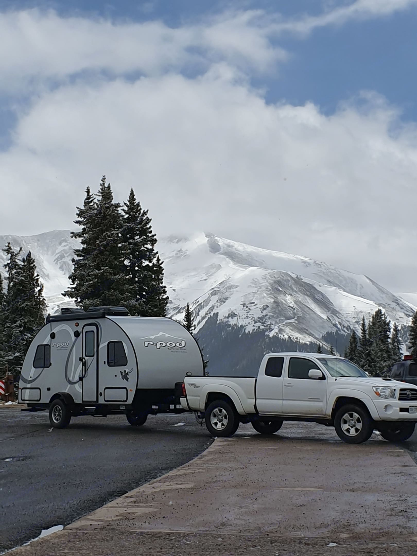 Top of Berthoud Pass. Forest River R-Pod 2019