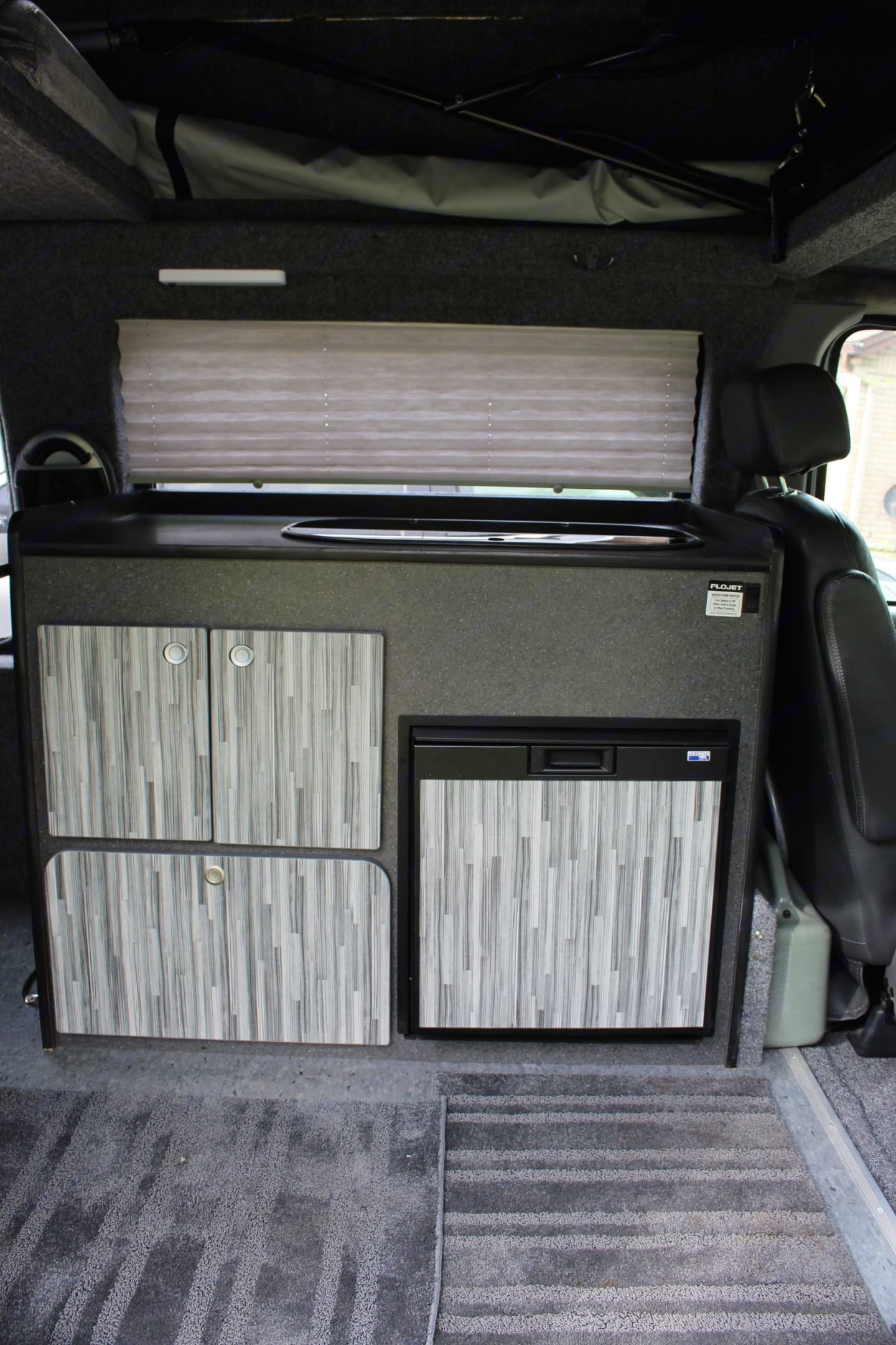 Kitchen with window above it. Ford E 150 Reg Body 2000