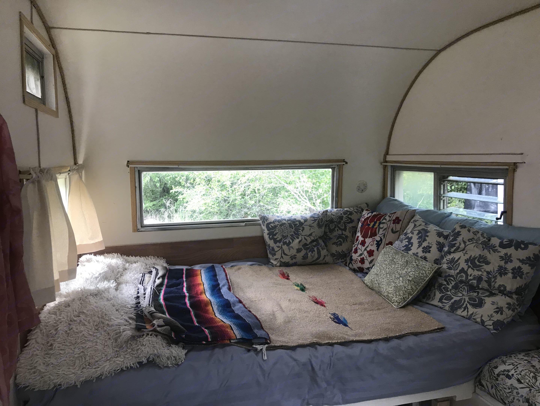 Super comfortable bed with gel mattress topper. . Donhaul Inc, Bellflower of California Oasis 1965