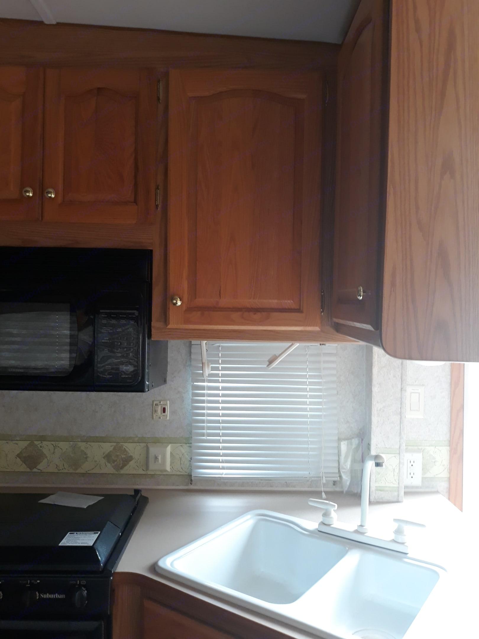 Sink, stove, microwave. Ameri-Camp 290rls 2004