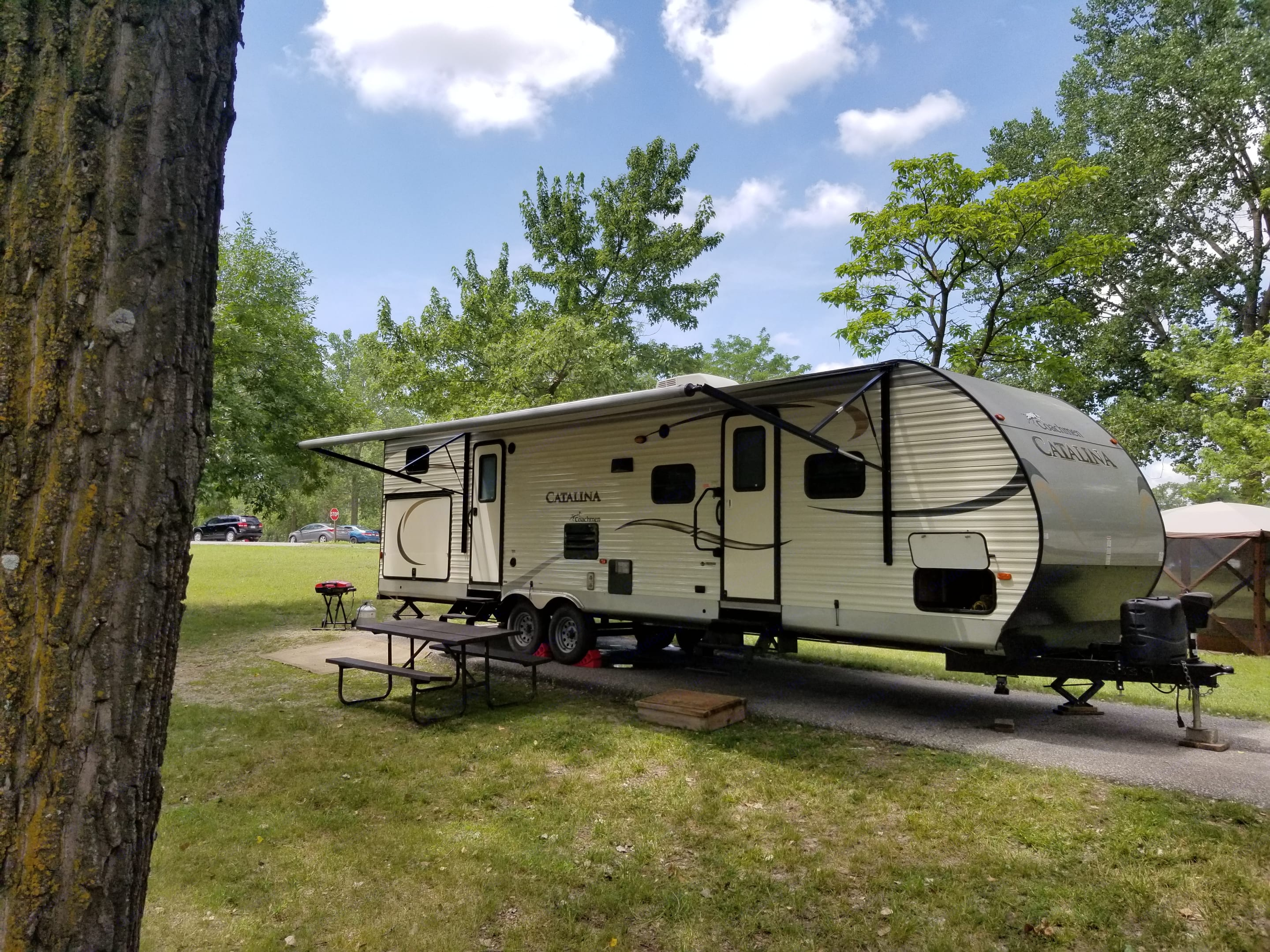 All set up and ready for some relaxing!. Coachmen Catalina 2016