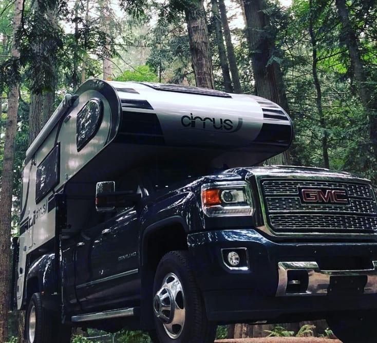 British Columbia, Canada. GMC Cirrus Camper 2018