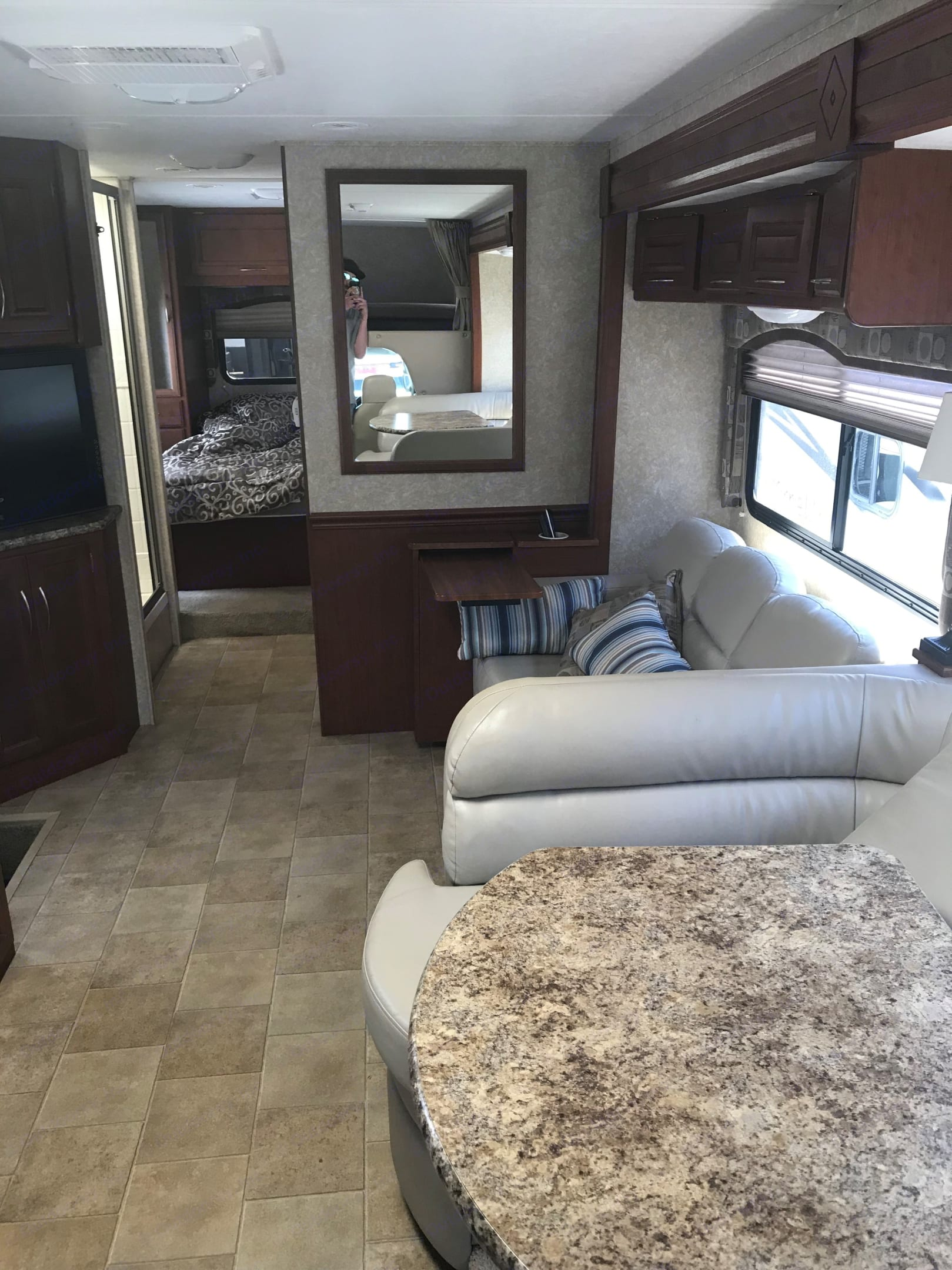 inside of the rv fully extended . Four Winds 31K 2011