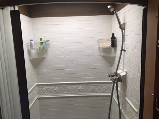 Large shower area. Thor Motor Coach A.C.E 2016