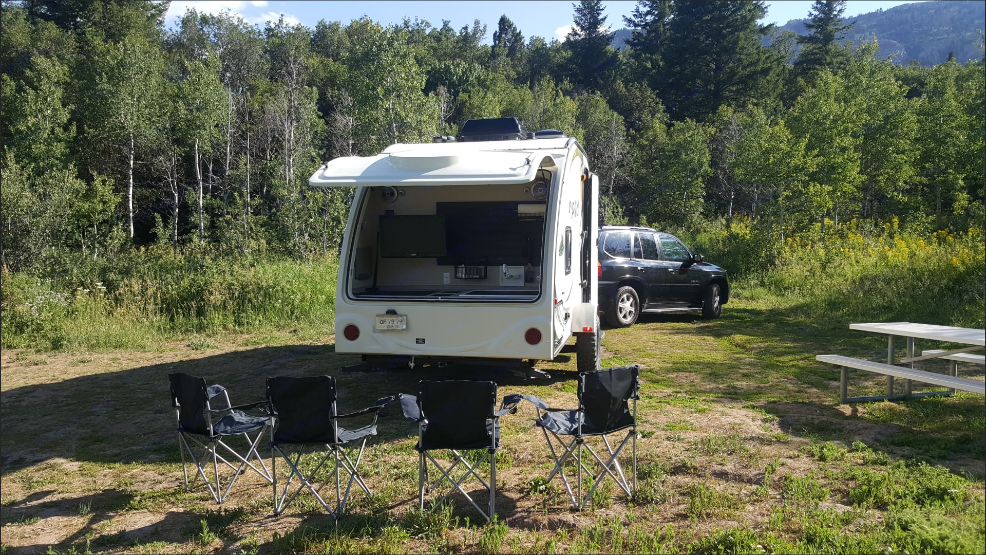Rear garage for entertaining, grill prep, and cleaning.. Forest River R-Pod 2013