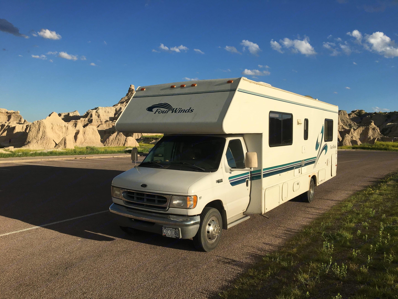 Badlands National Park, Summer 2019. Thor Motor Coach Four Winds 1999