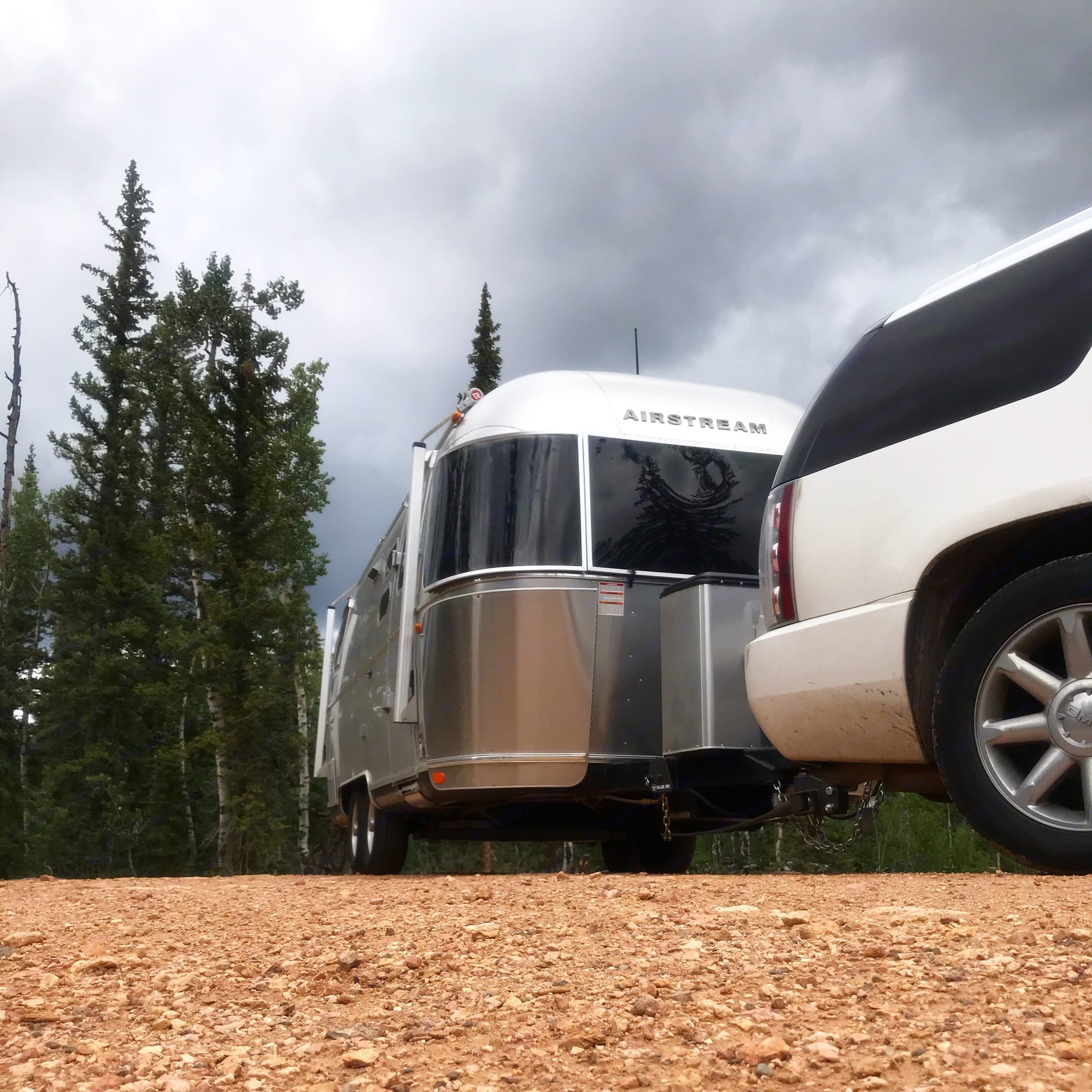 Somewhere in a national forest outside of Utah. Airstream International 2018