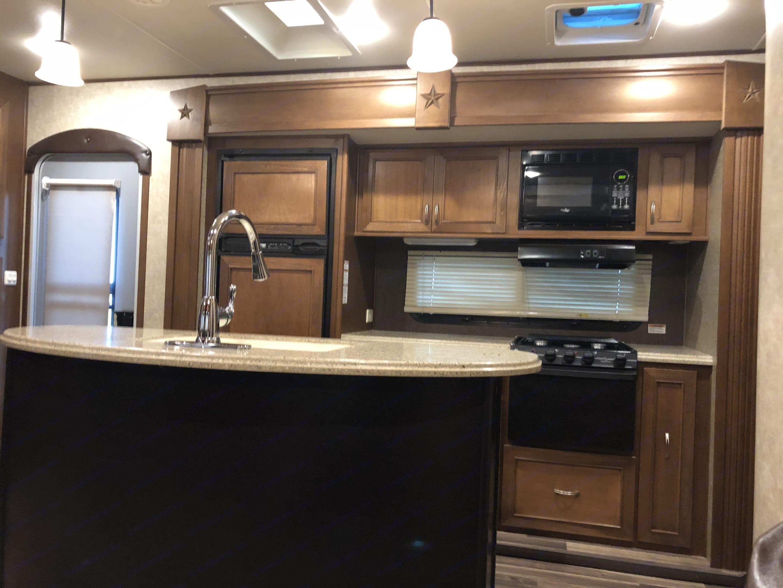 Hello giant kitchen island!. Open Range Roamer 2016