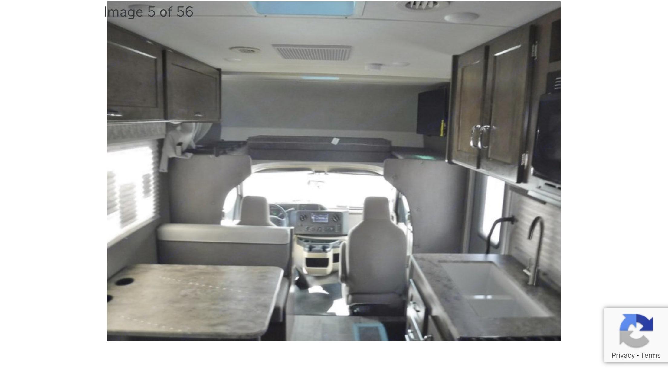 Interior taken from the back of the rv.. Winnebago Outlook 2019