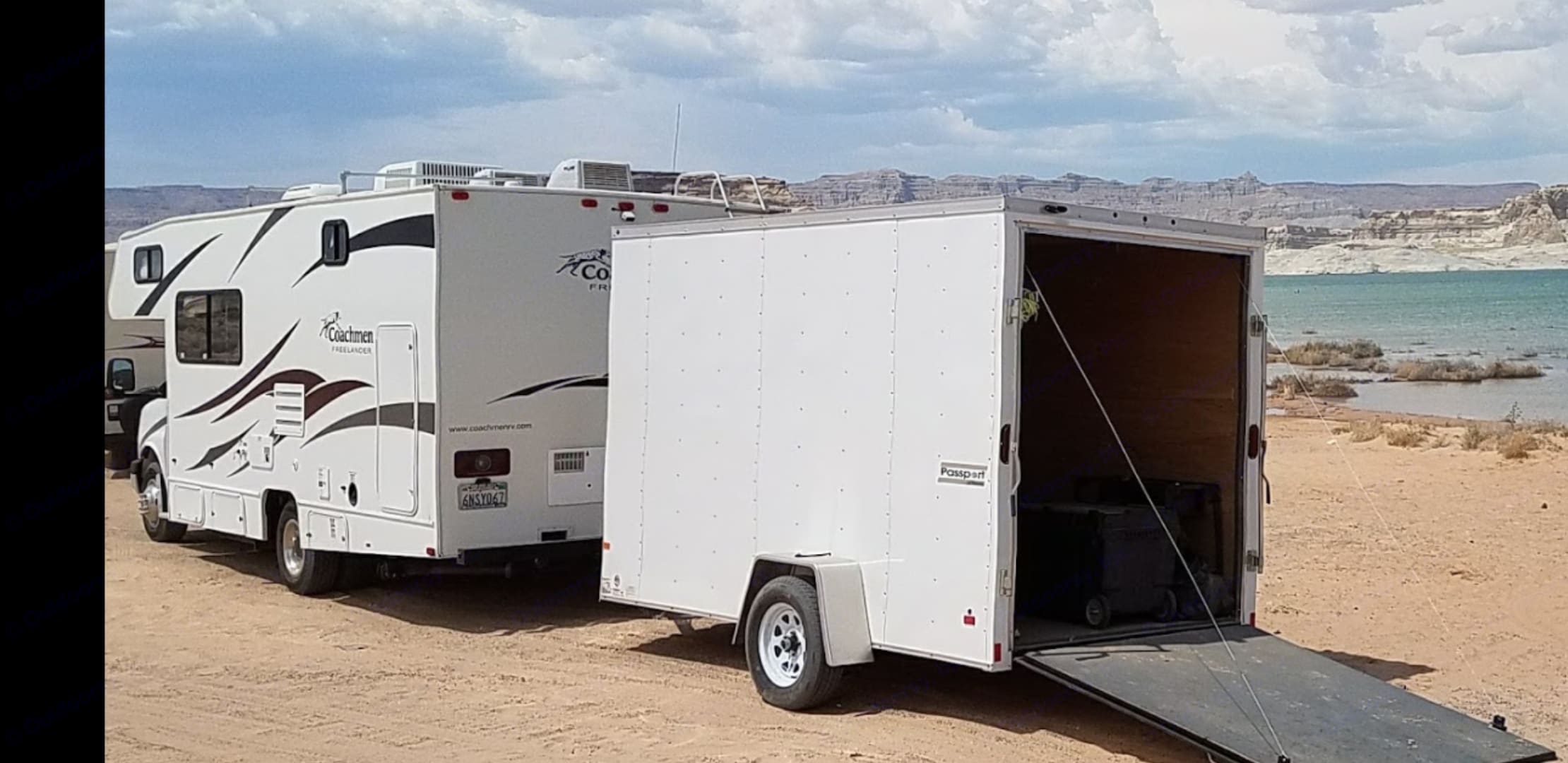Enclosed trailer available for additional cost . Coachmen Freelander 2011