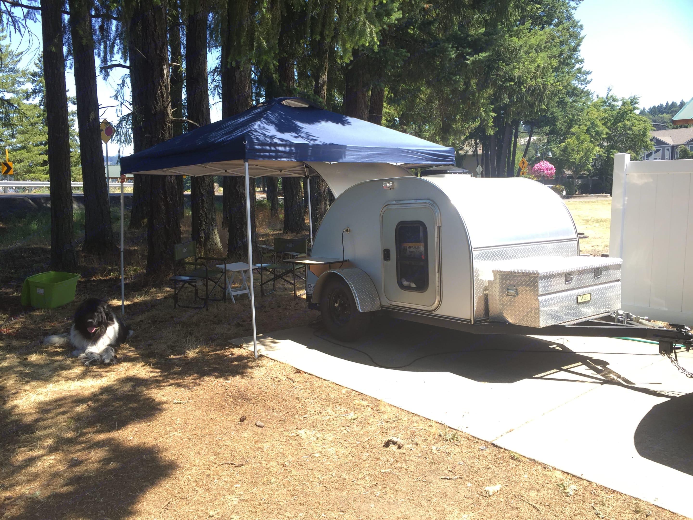 Cozy teardrop camper. Custom Camper Trailer 2015