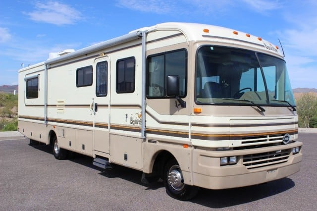 Typical Exterior View. Fleetwood Bounder 34J 1994