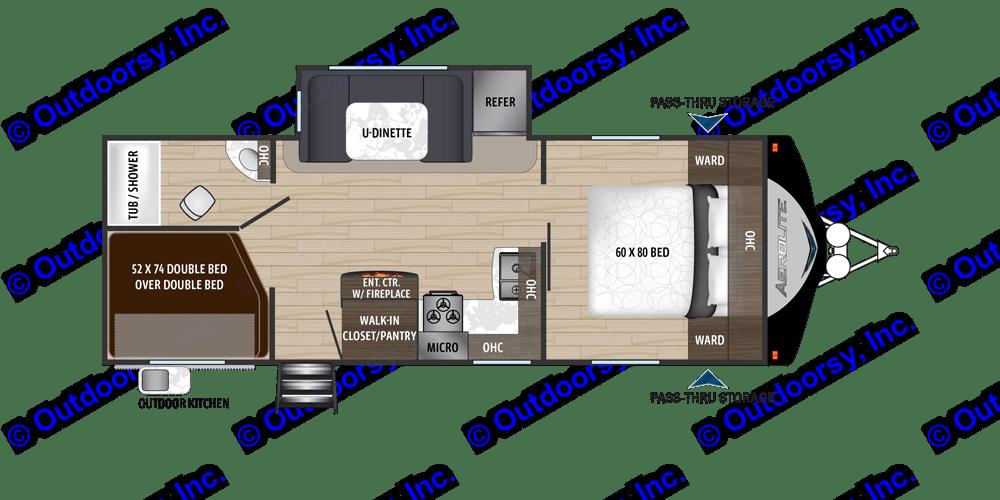 Floorplan. Dutchmen Aerolite 2019