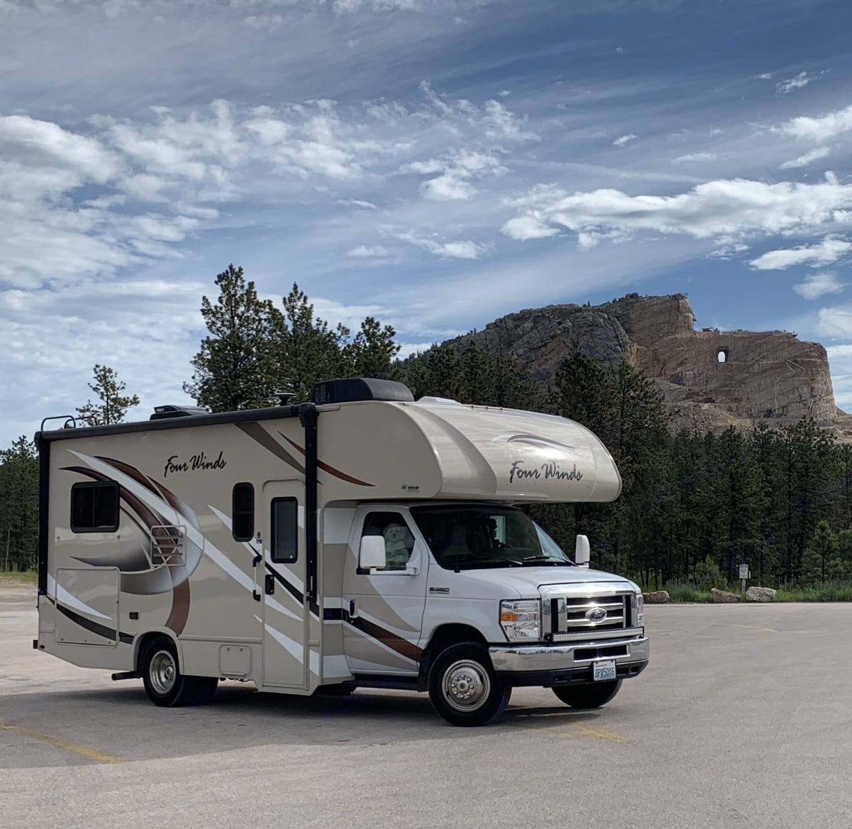 Stopped to check out Crazy Horse in South Dakota!. Ford Fourwinds 2019