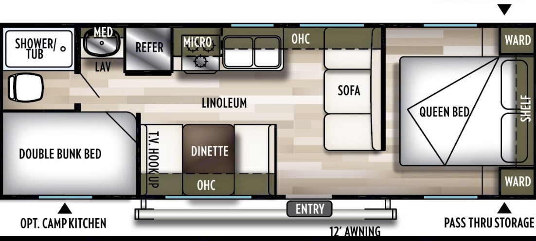 floor plan. Forest River Wildwood X-Lite 2019