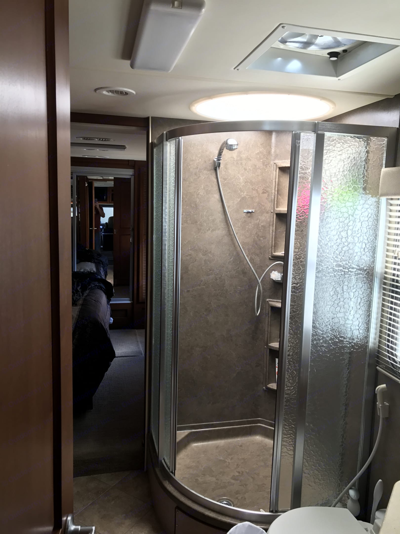 Huge bathroom and shower!. Fleetwood Discovery 2010