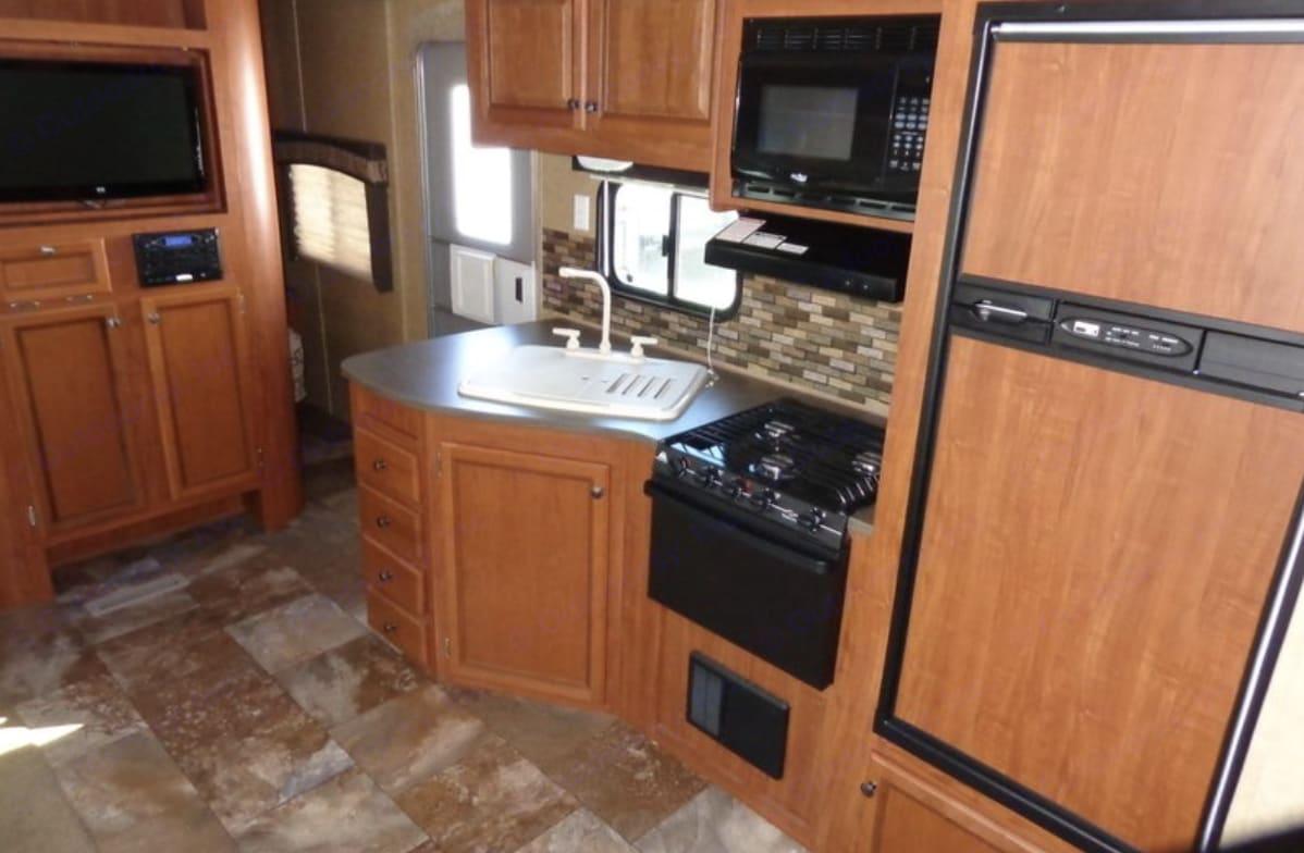 Full kitchen. Jayco Jay Flight 2013