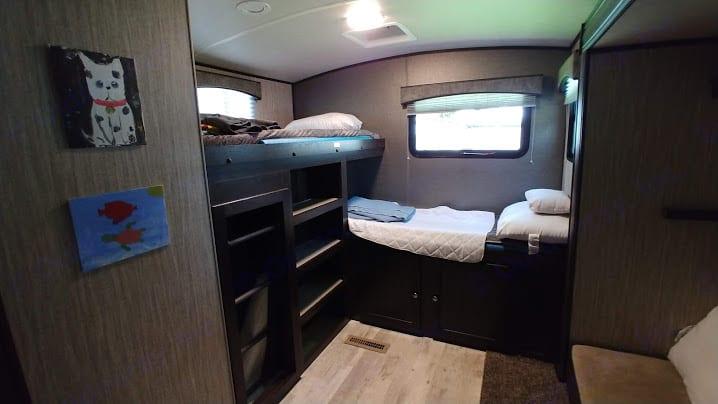 "The ""kids' room"", complete with closing door.. Heartland Sundance 2020"