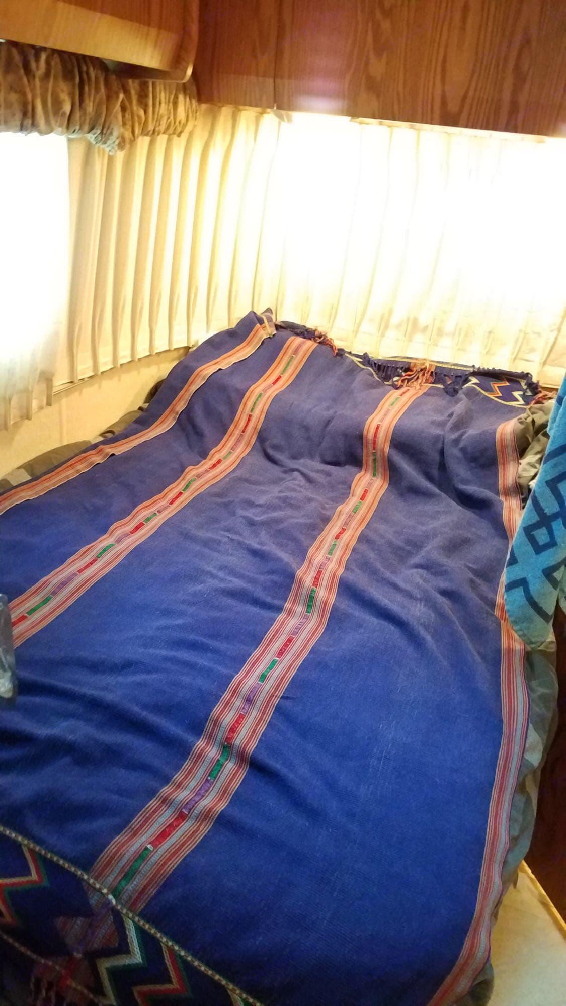 Customer photo of main bedroom (using own linens).. Airstream Bambi Safari Edition 2003