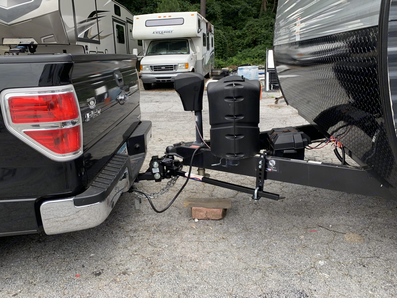 We use an EZ2 Sway Hitch system . Keystone Summerland 2018