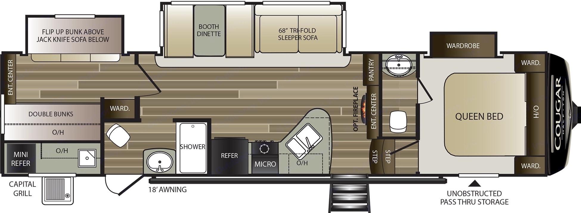 Floorplan. Keystone Cougar 2020