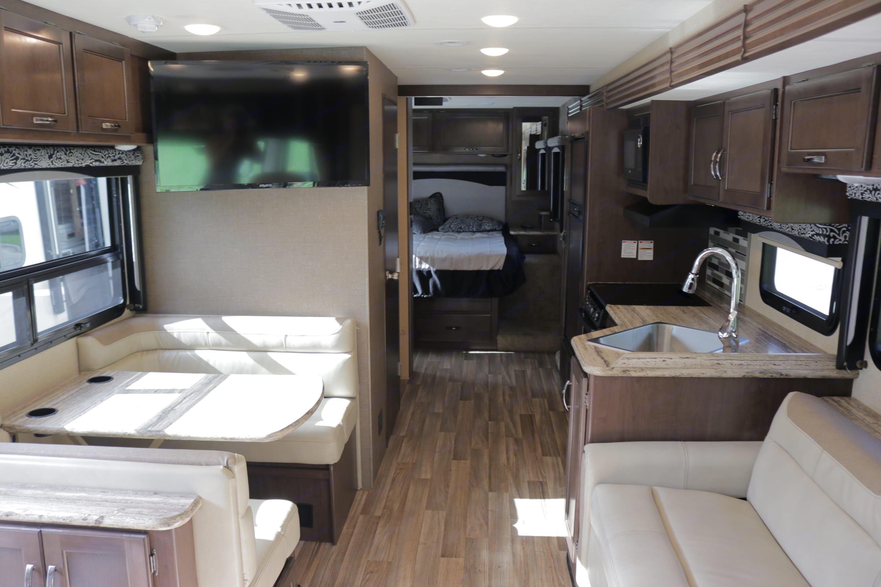 View from the front of the RV to the back. Thor Motor Coach A.C.E 2018