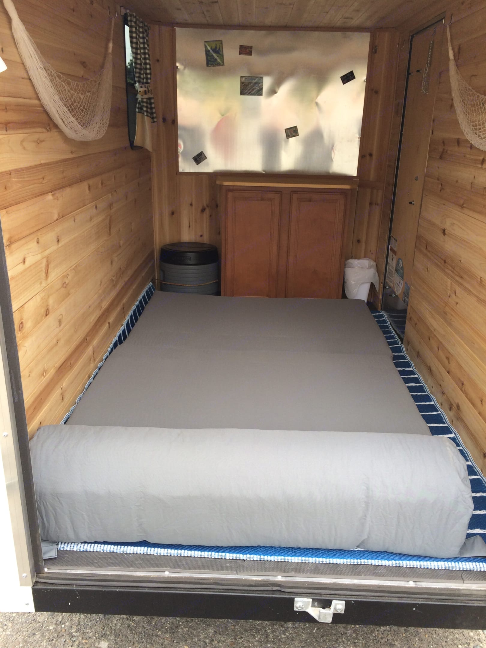 """Couch makes into 6"""" thick 4' x 6' bed.. Cargo Mate CH58SA 5 x 8 2020"""