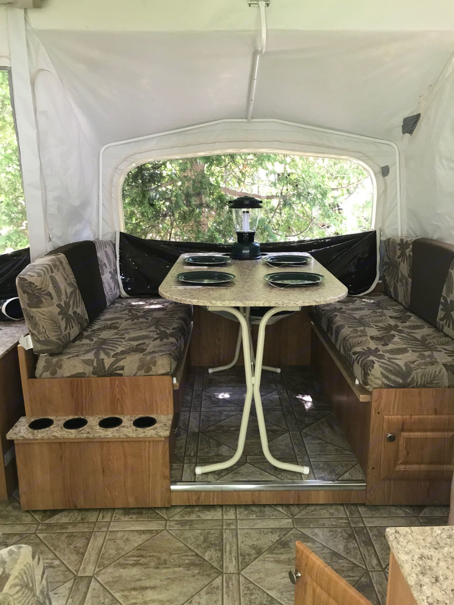 Bump Out - can be used as a table and converted to third bed at night. Jayco Jay Series 2010