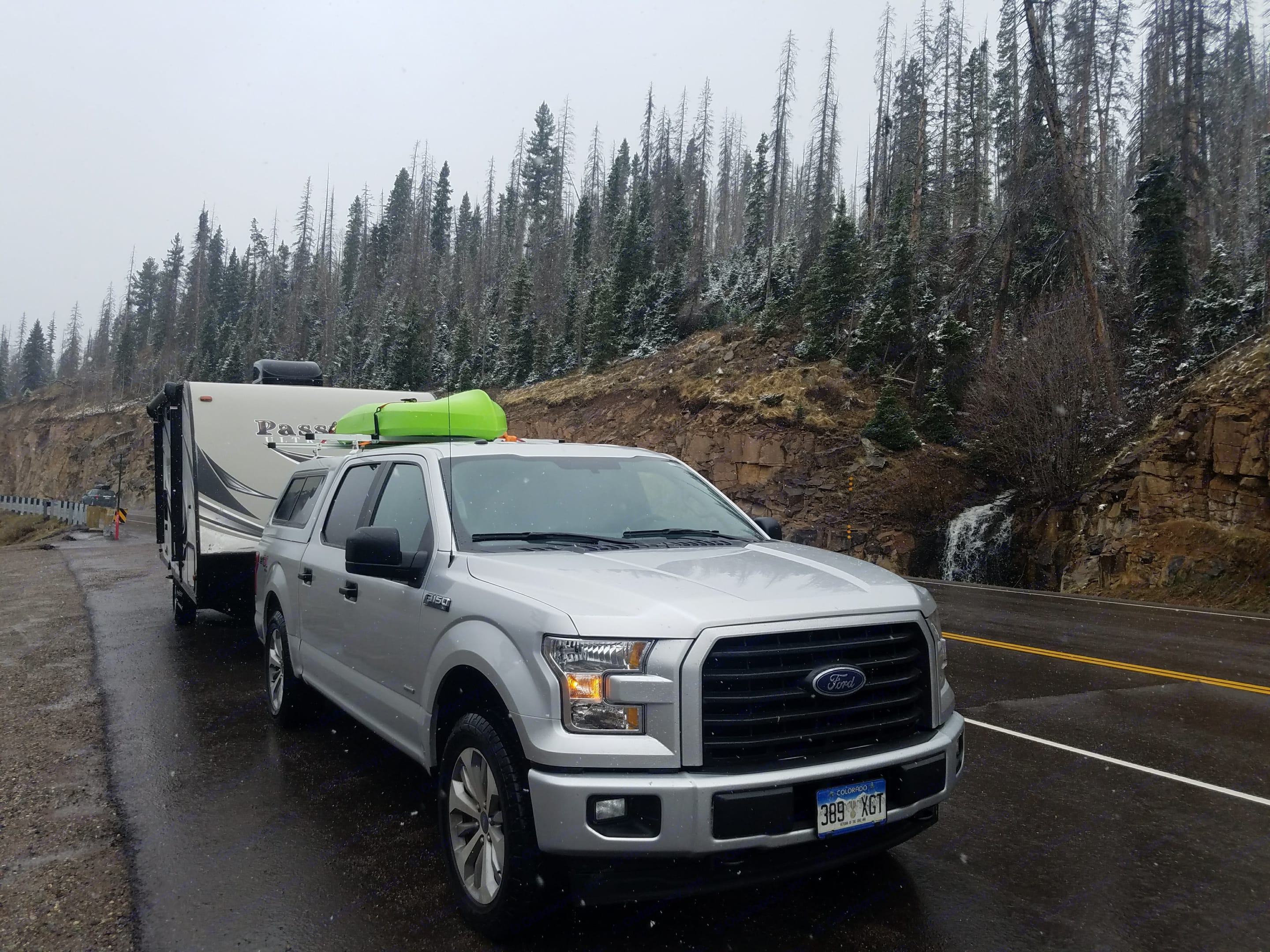 Towing effortlessly over Monarch Pass. Keystone Passport 2017