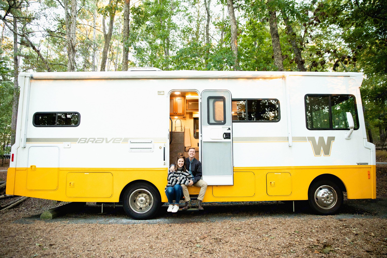 My wife and I camping in the Winnebago in Georgia. . Winnebago Brave 2015