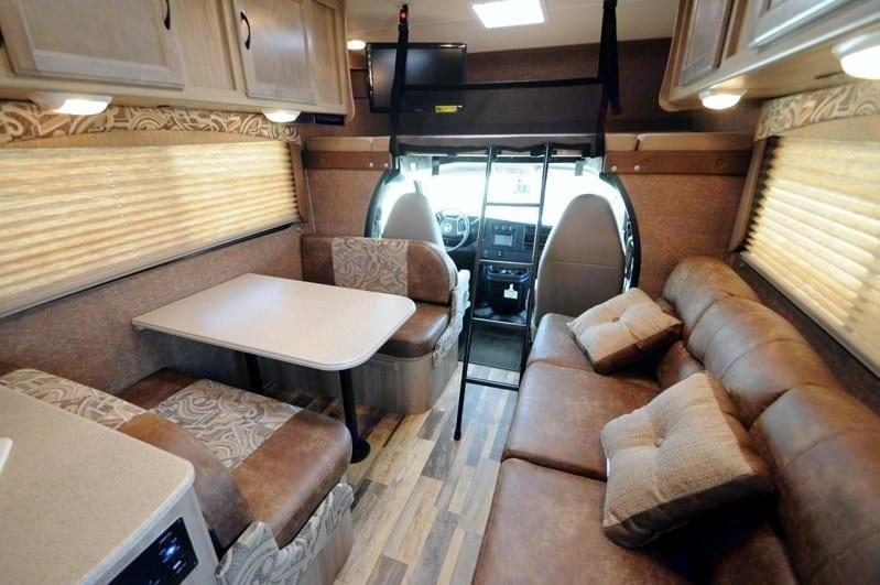 Interior Seating. Coachmen Freelander 2015