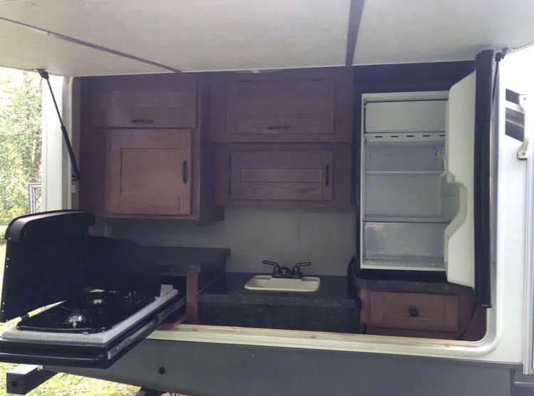 Outdoor kitchen. Forest River Salem Hemisphere 2010
