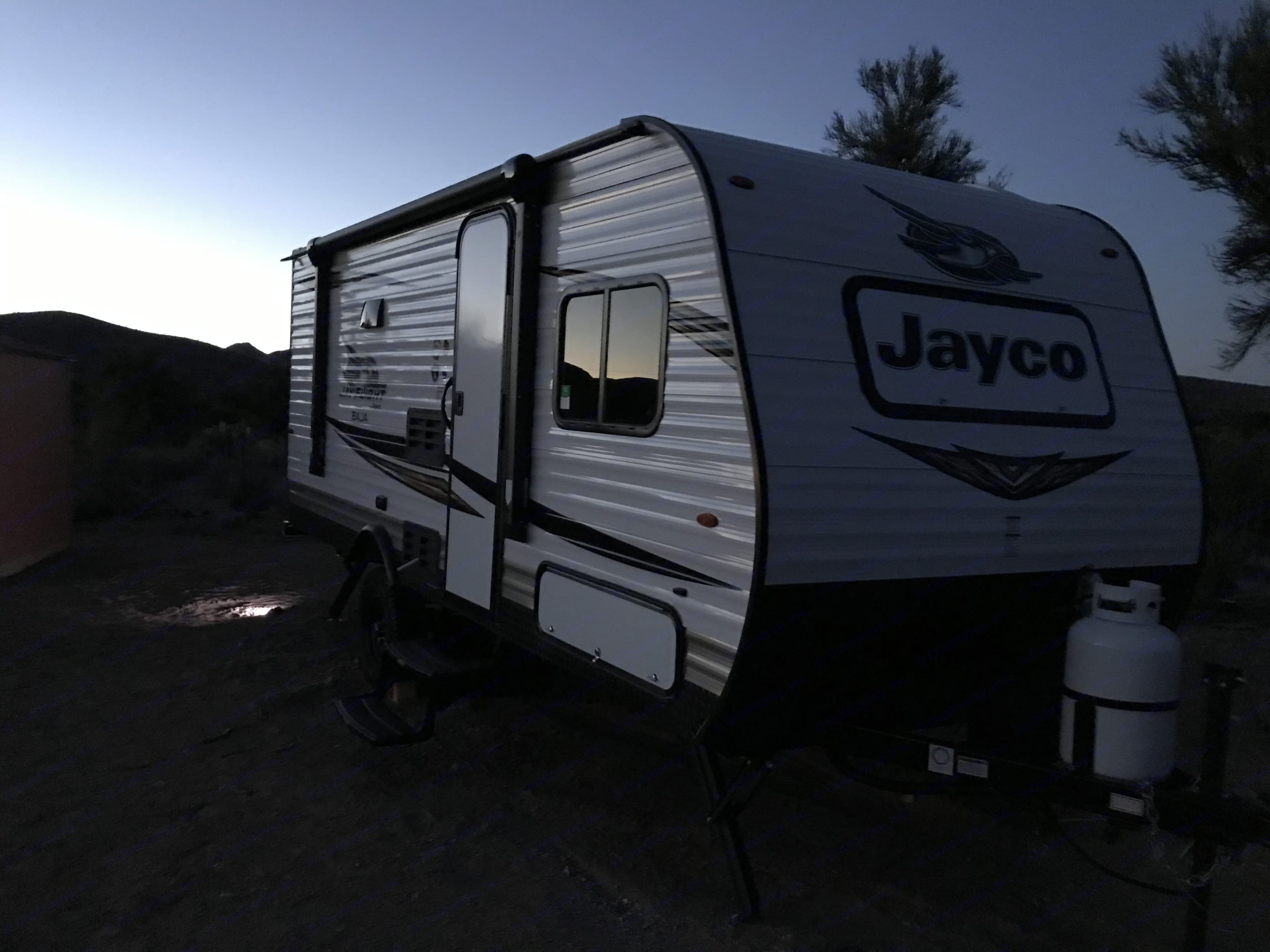 She's beautiful in all weather.. Jayco Jay Flight Bungalow 2019