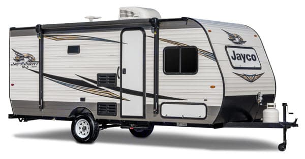 Very light and easy to pull.. Jayco Jay Flight Bungalow 2019