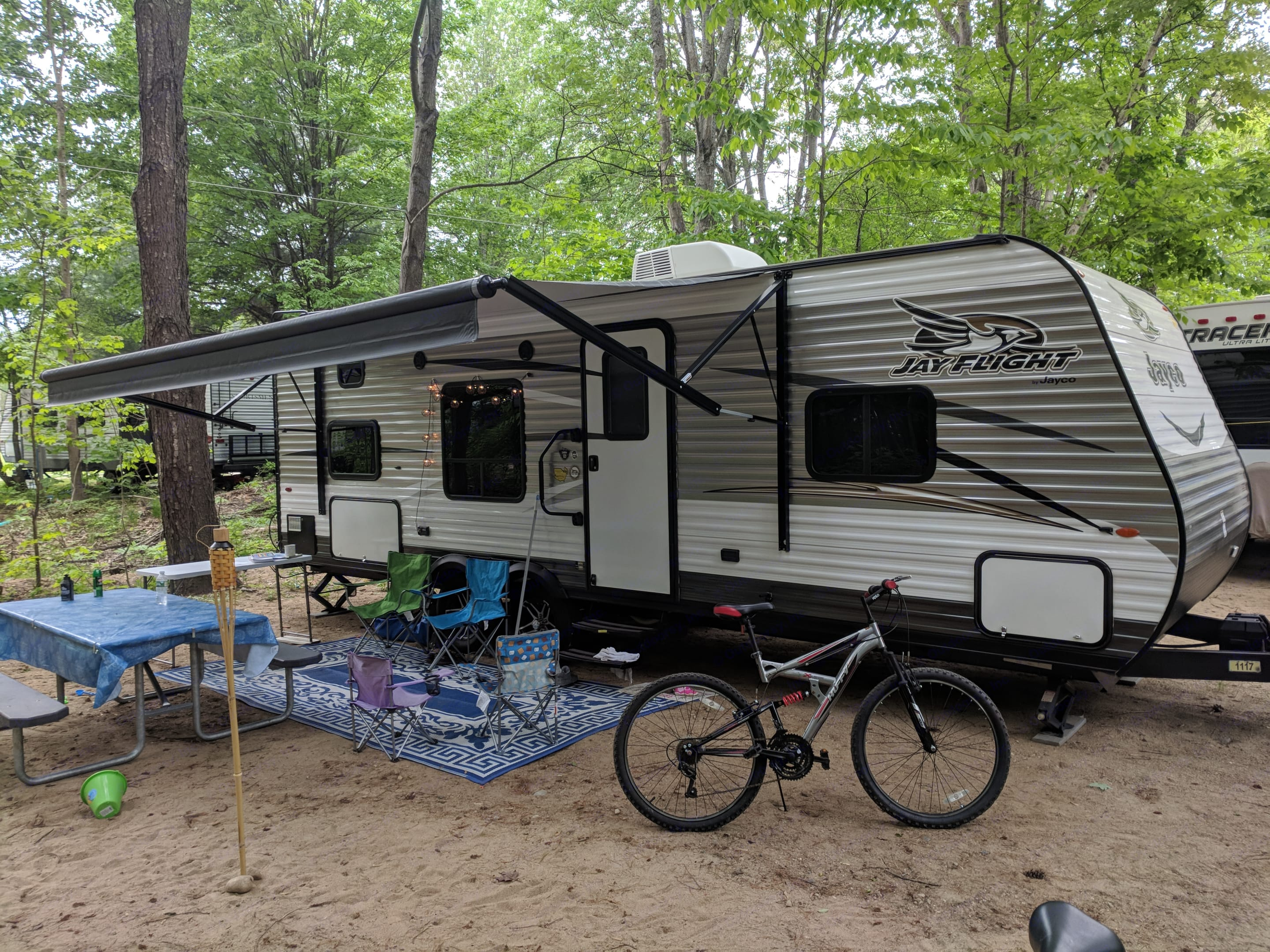 All set up for out camping trip to Glenn NH.. Jayco Jay Flight 2017