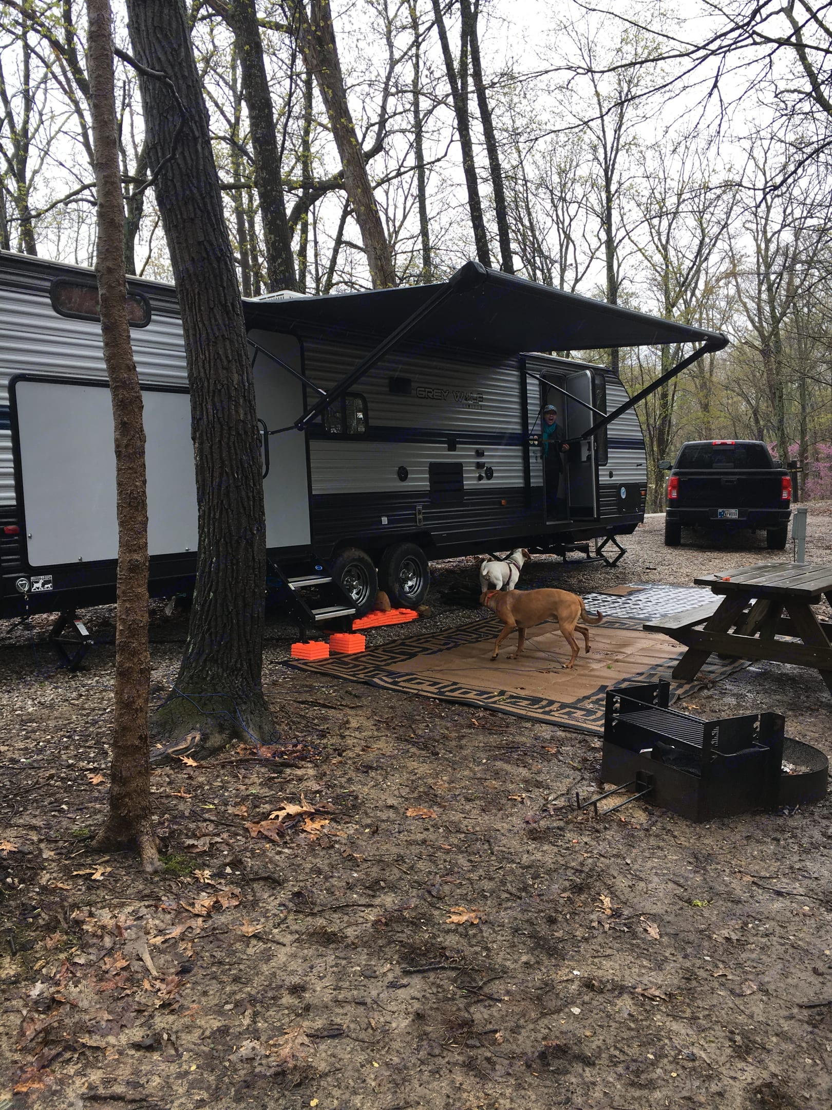 Fun for the family rain or shine!. Forest River Cherokee Grey Wolf 29TE 2019