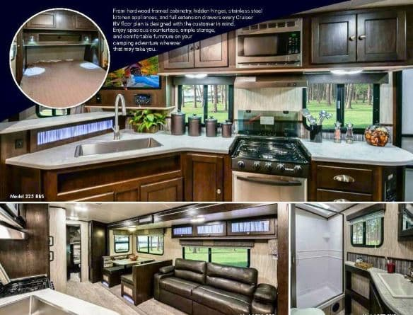 General overview of interior appointments. Cruiser Rv Corp Shadow Cruiser 2018