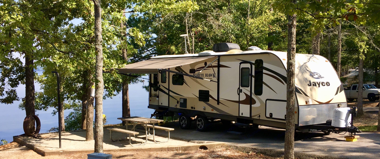 Setup at campground.. Jayco White Hawk Ultra Lite 2015